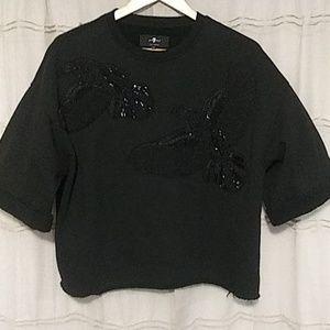 7 for all Mankind embellished sweatshirt